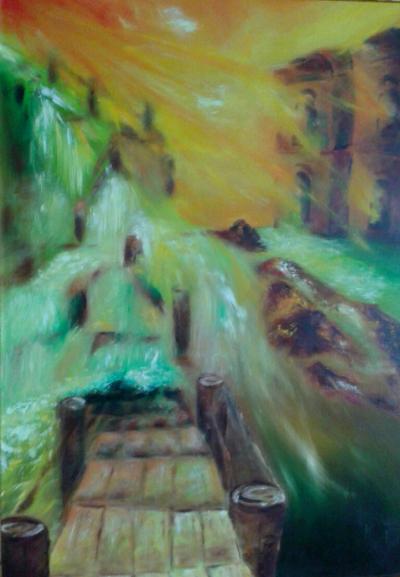 Lépcső  2014 olajfestmény 50x70