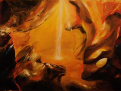 Barlang  2013 olajfestmény 70x50