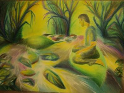 Álom 1  2011 akvarellceruza 70x50