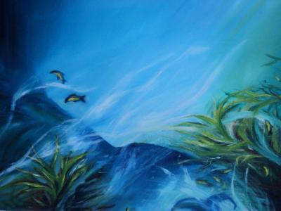Víz alatti világ  2010 olajfestmény 70x50