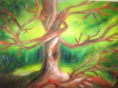 Táncoló fa  2009 olajfestmény 70x50