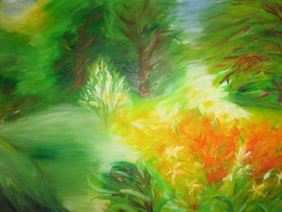 Tavaszi erdő  2009 olajfestmény 70x50