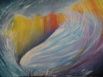 Hó alatti vulkán  2008 akvarellceruza 70x50