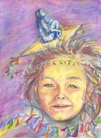 akvarell - ceruza