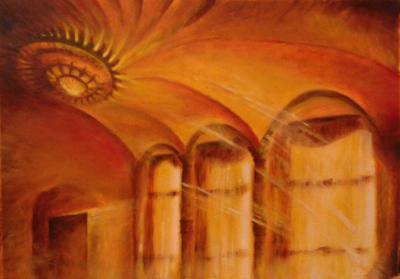 Gaudi szoba 2016 olajfestmény 70x50