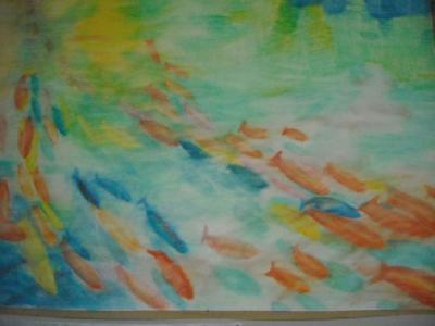 akvarell - ceruza 50x70